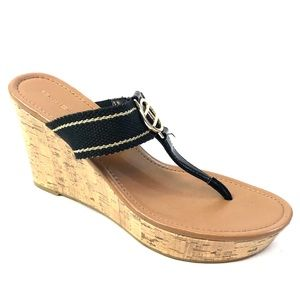 Tommy Hilfiger Cork Wedge Sandals